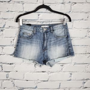 Talula Okinawa High Rise Denim Cut Off Shorts
